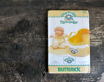 Vintage Uncut Cabbage Patch Kids Pattern 6661 - Bed Carrier