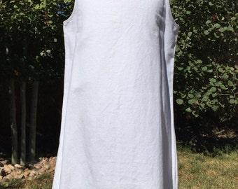 White cutwork pillowcase dress
