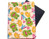 Frog and Princess Crowns on Cream Passport Cover/Holder/Wallet