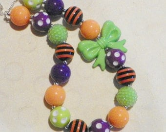 Halloween Chunky Bubblegum Necklace