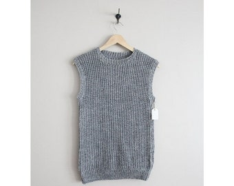 25% OFF SALE wool sweater vest / gray wool vest / sleeveless gray sweater