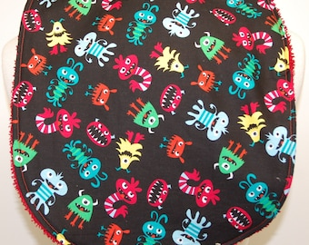 Youth/Junior Bib - Boy - Special Needs, Cerebral Palsy, Epilepsy, Seizures, Drooling, 14-inch Neck Opening:  Colorful Monsters