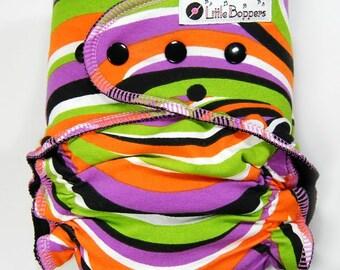 Cloth Diaper All-in-Two Small/Medium WindPro - Small Medium Wind Pro AI2 - Fall Swirl - Bright Autumn Colors Diaper Nappy - Abstract