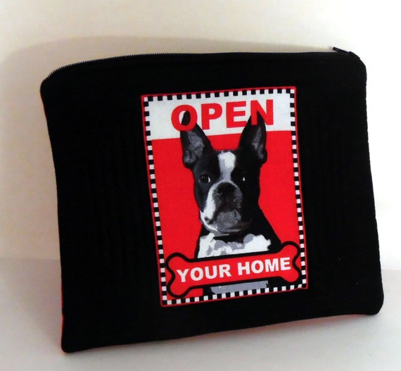 Quilted Rescue Dog Zippered Pouch, Rescue Adopt Dog Lover Gift, Open your Home Zippered Pouch, Rescue Adopt Makeup Bag, Dog Cosmetic Bag