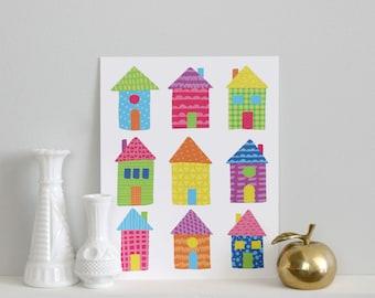 Houses Print