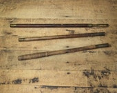 Wood Shotgun Cleaning Rod in 3 pieces Wood and Brass for Gun cleaning Vintage