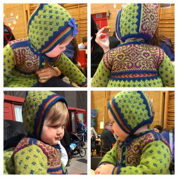 Veslemoy coat AND hat, knitting PATTERN