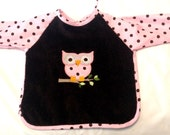 Cute Owl Sleeved Bib, Size 6 Months - 2T