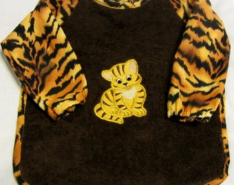 Tiger Cub Sleeved Bib - 6 months to 2T