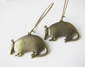 ANTIQUE GOLD Finish   Armadillo EARRINGS