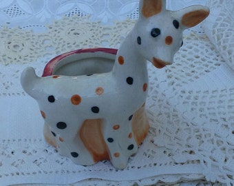 Sweet little Giraffe planter...Occupied Japan
