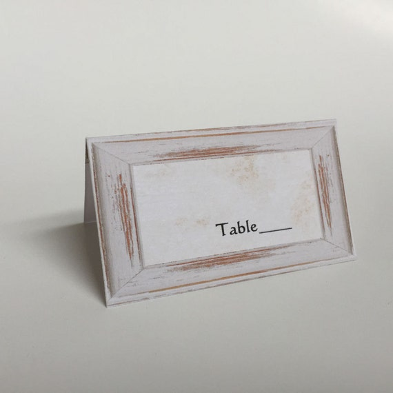 Tented Escort Card, Seating Card, Aged Seating Card, Vintage Seat Cards, Folded Place Card, Table Name Card, Stand Up Place Card, E001, S001