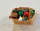 Large miniature basket of mixed vegetables