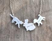 Vegan Necklace-Vegan Jewelry- Adopt Don't Shop Companion Animal Eco Friendly  Necklace