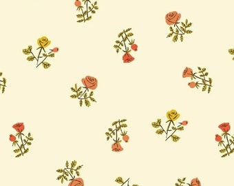 Tiger Lily - By Heather Ross - For Windham - Small Roses - Cream (40930-5) - 1 Yard - 9.95 Dollars