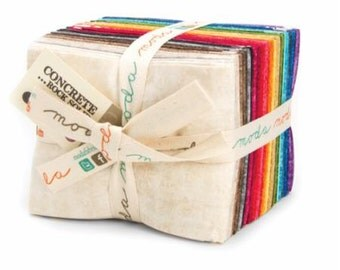 SALE Concrete - Rock Solid Basics - From Moda - Fat Quarter Set - 29 SKUs - 69.50 Dollars