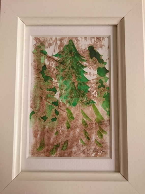 30% off with BLACKFRIDAY coupon - Deep woods, framed mixed media original, oil based ink and watercolour on paper
