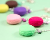 Macaron Necklace with Bow - Pistachio - Green