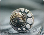 In Orbit - Mokume Gane Sterling silver and Copper Cocktail ring