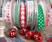 The Christmas Six Mix 6 ribbons 1metre of each as seen here