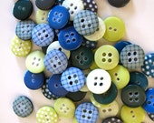 SALE Buttons Herb Garden mix x60 buttons as seen 1cm
