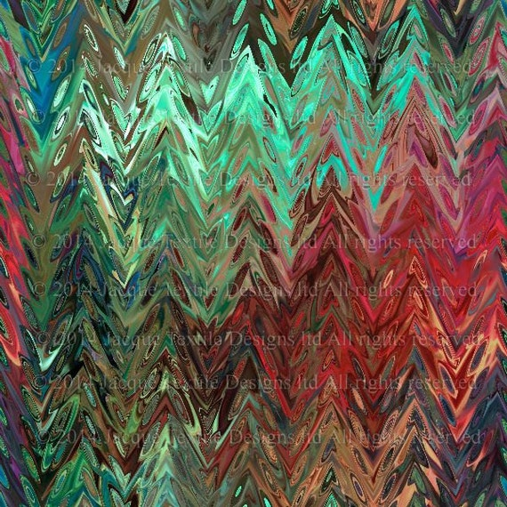 Artisan Modern Zig Zag Sateen Cotton Textile Artist Made Fabric Home Decor Drapery Pillows