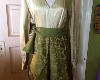 Vintage womens 1960's amazing holiday high fashion dress... Size S/M