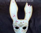 FREE SHIPPING USA Splicer Bunny Leather Mask... Bioshock masquerade bunny cosplay costume mardi gras halloween burning man splicer