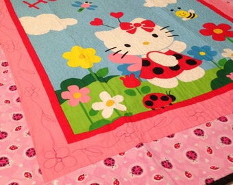 Hello Kitty ladybug quilt