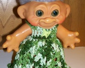 Dress in Variegated Greens-6.5 Inch TROLL OUTFIT