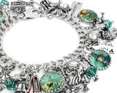Wizard of Oz, Oz Jewelry, Charm Bracelet, Witch Jewelry, Wizard Jewelry, Glinda Bracelet, Good Witch, Wicked Witch
