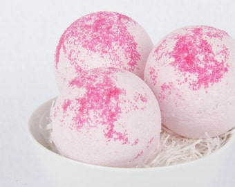 Black Cherry Bath Bomb Fizzie - Mothers Day Gift - 1 Bath Bomb Fizzie - Gift For Her  - Wife Gift - Girlfriend Gift - Valentines Day Gift