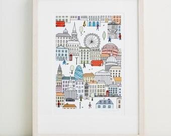 London Town Fine Art Print