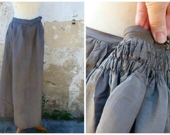 "Vintage Antique 1890 French Victorian  silk skirt bustle / ""faux cul"" shape"