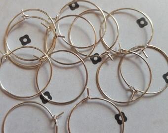 20mm Earring Hoops (6 pairs)