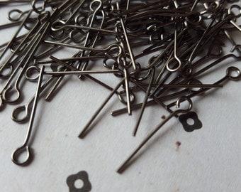 """3/4"""" (20mm) Gunmetal Eyepins (100)"""
