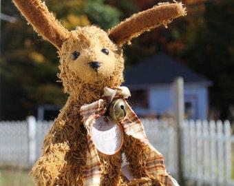 Vintage look, cotton thread rabbit, primitive