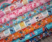 Cherry Blossom Garden by Wendy Kendall, Set of 8,  1/2 yard set