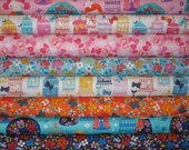 Cherry Blossom Garden by Wendy Kendall, Set of 8 Fat Quarters