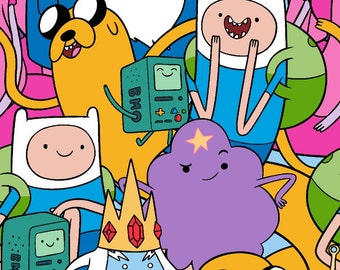 Adventure Time Characters, Beemo,  Finn and Jake, Yard