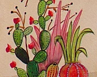 "Tiny Cactus Print - 4"" x 6"""