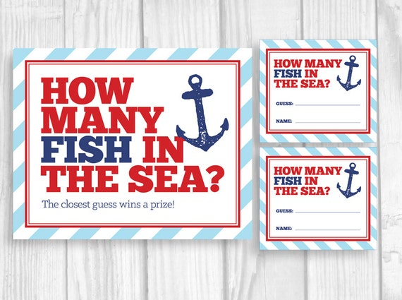 guess how many fish in the sea printable nautical anchor