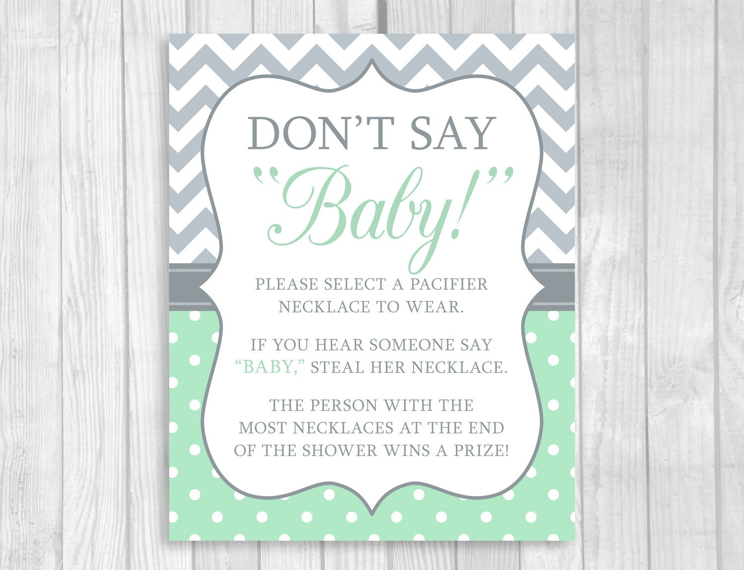 Lively image with don t say baby free printable