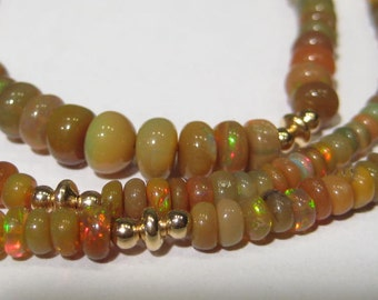 Natural Ethiopian Opal  necklace................. Chocolate Opals.........      e871