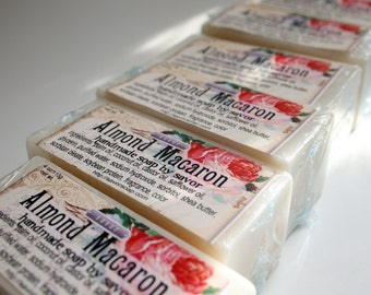 Almond Macaron Shea Butter Soap Vegan Bar Soap