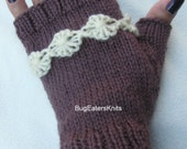 Women's Fingerless Gloves, Women's Mitts, Hand Warmers, Knitted Mitts
