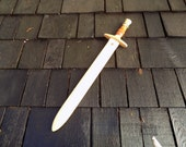 Forest Ranger Green and white Banded Toy Wooden Sword