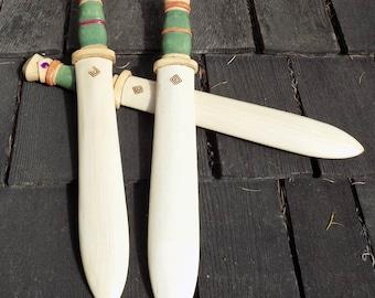 Jeweled Jade Wooden Toy  Short sword