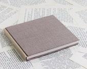 Medium Size Duo-tone Dusty Pink Linen Notebook