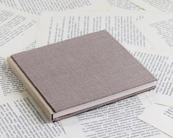 Medium Size Duo-tone Dusty Pink Linen Notebook